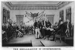 独立宣言は、1776年7月4日にペンシルベニア州フィラデルフィアに於いて、署名された。