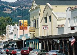 カリフォルニア州ナパバレーののどかな町。全米各地のこうした小さな町が、町や地域社会の基本的生活を地方政府に依存している。