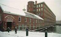 マサチューセッツ州ローウェルの「ブート紡織工場」。産業革命の最盛期には年間9万9500キロメートルの織物を生産していた。現在は博物館となっている。(AP/WWP)