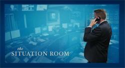 ホワイトハウスの内側:危機管理室