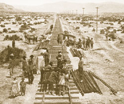 大陸横断鉄道の建設 (1868年) (California State Railroad Museum Library)